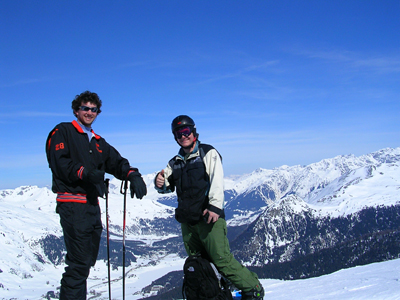 JYM student skiiing in the Alps