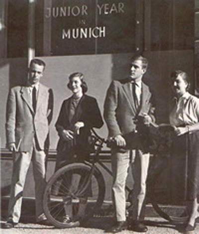 JYM students and their bikes in the 1950s